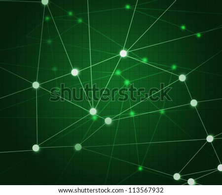 Green Network Background - stock photo