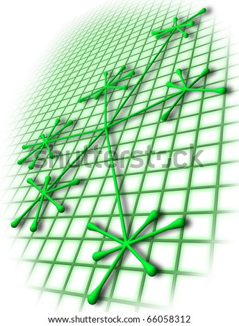 Green networking concept - stock photo