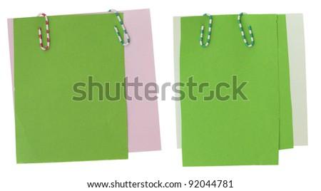 green notes - stock photo