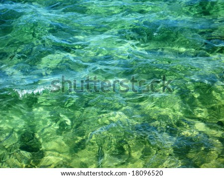 green ocean water texture with a wave