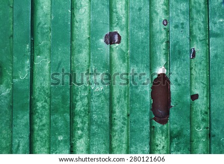Green old grungy metal surface - background - texture  - stock photo
