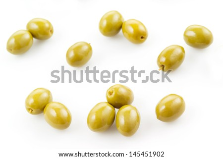 green olive background