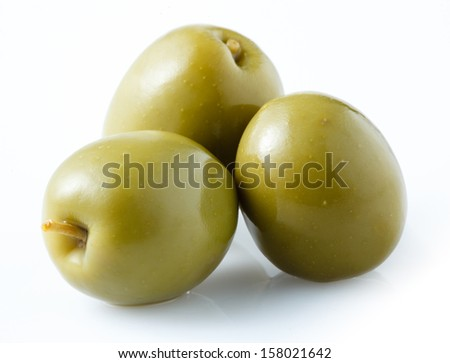 Green olive isolated