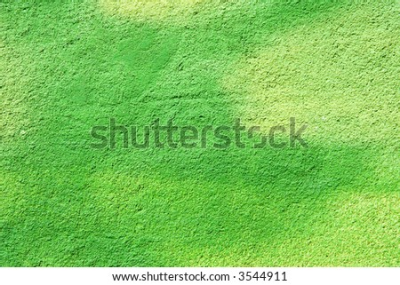 green painted wall background - stock photo