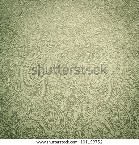 Green paisley background/texture