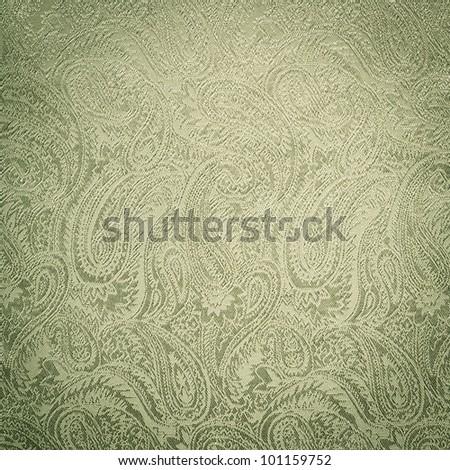 Green paisley background/texture - stock photo