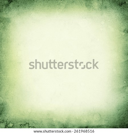 Green Paper Texture. Background. Frame - stock photo