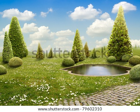 Green Park - Background for your Art - stock photo