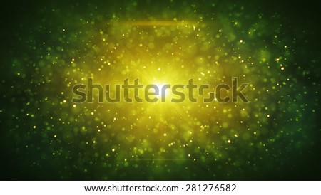 green particles blizzard. computer generated abstract background - stock photo