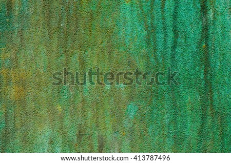 green patina metal texture background - stock photo
