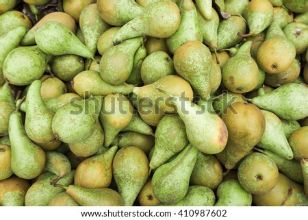 Green pears.  Fresh pears - stock photo