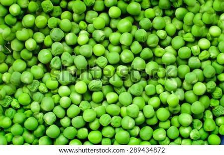 Green Peas background texture vegetable  - stock photo