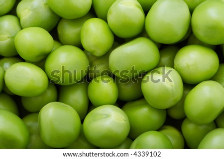 Green peas close-up as abstract background. Pea green pattern.