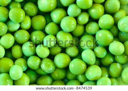 Green peas close-up may be used as background