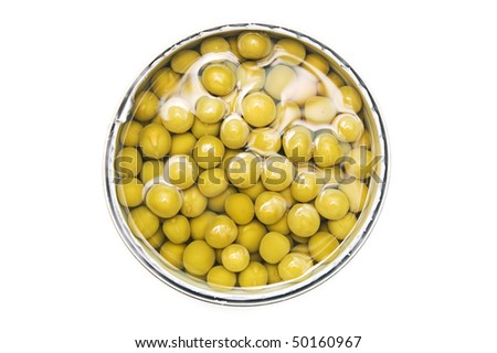 Green peas in a can