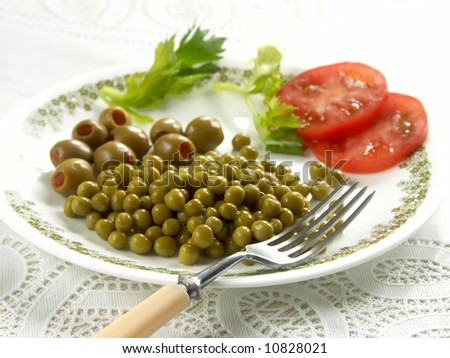 green peas with tomatoes