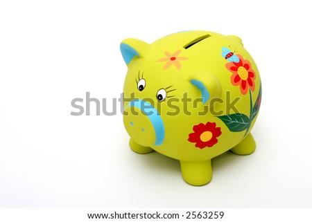 Green piggybank - stock photo