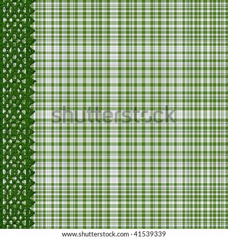 Plaid Background Green Green Plaid Background With