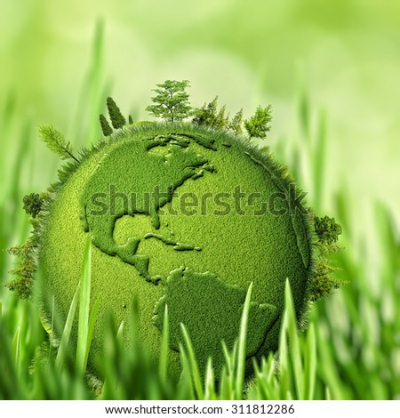 Green Planet, abstract environmental backgrounds - stock photo