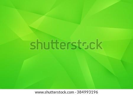 Green Polygonal Texture - stock photo