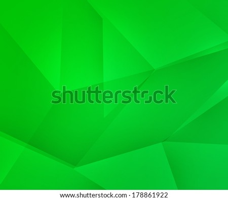 Green Polygons Texture - stock photo