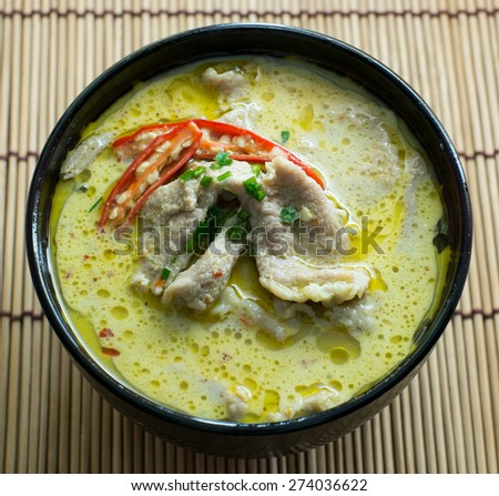 Green pork Curry , Thai cuisine