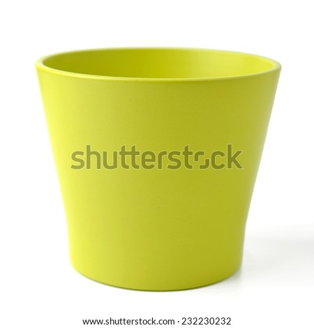 green pot isolated on white