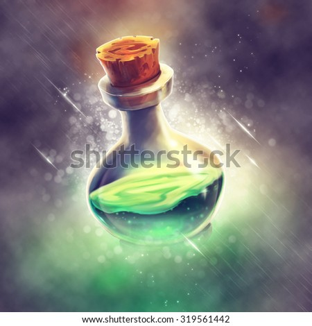 Green Potion - stock photo
