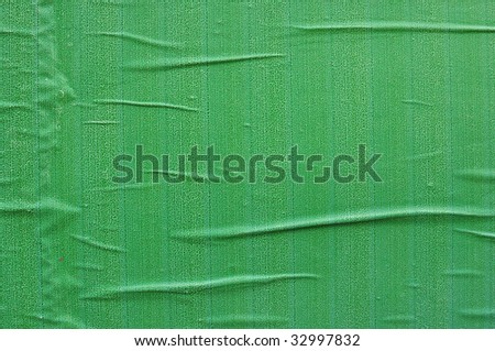 Green printed billboard paper texture