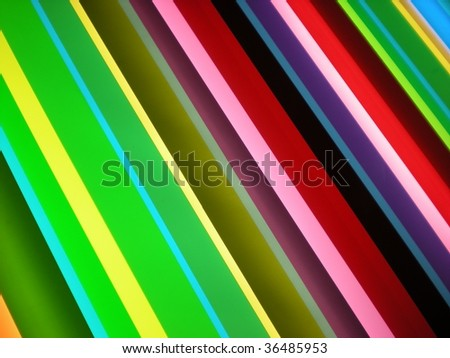 Green, purple and yellow stripe pattern background  stylish bright colors - stock photo