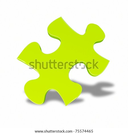green puzzle - stock photo