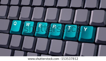 Green qwerty button on keyboard