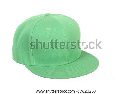 green rap cap - stock photo