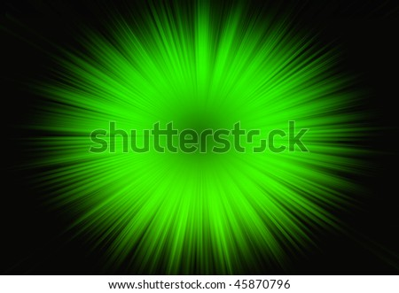 Green Rays - stock photo