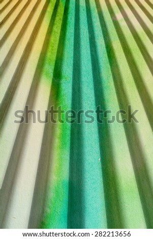 green retro rays - abstract graphic design