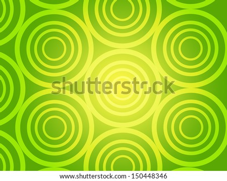 Green Rings & Circles background