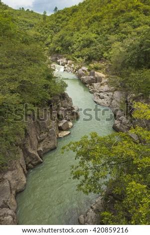 green river - stock photo