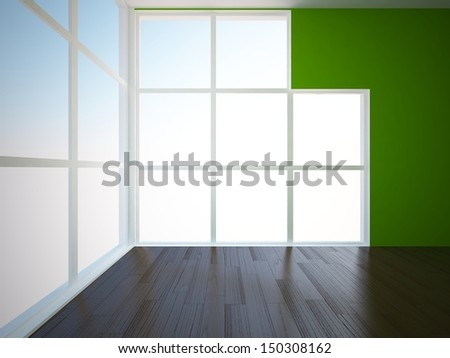 green room with wooden floor