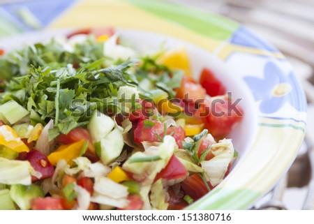 Green salad   - stock photo