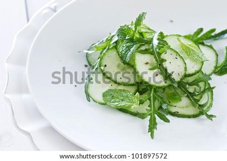 Green Salad Of Cuber And Rocket