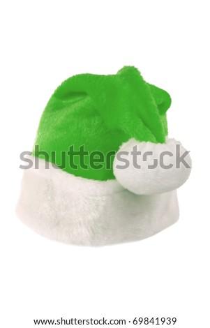 Green Santa hat - stock photo