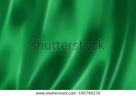 Green satin, silk, texture background - stock photo