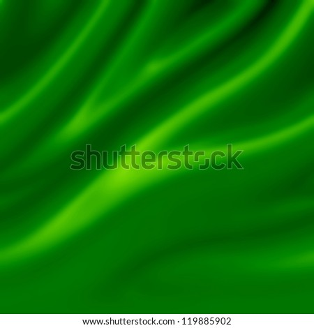 green satin with some smooth lines in it - stock photo