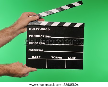 green screen movie clapper