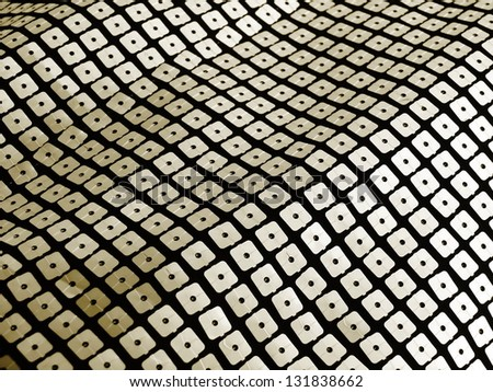Green sequins for disco, party, fashion, background or abstract designs. More of this motif and more backgrounds in my port. - stock photo