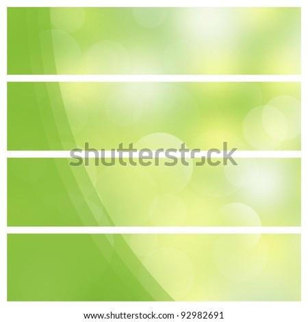 Green shiny background - stock photo