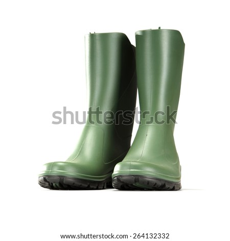 green shoes on white  - stock photo