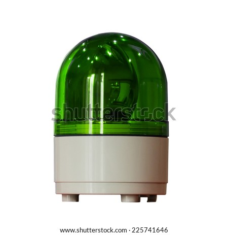 green siren isolated on a white background  - stock photo