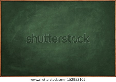 Green slate chalkboard copy space - stock photo