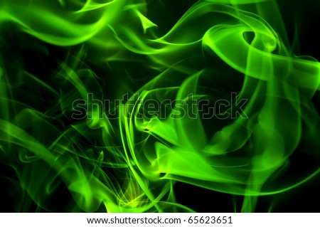 green smoke - stock photo